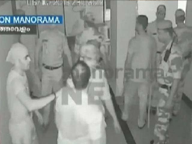 Video : Pictures Thrown, Windows broken - CCTV Footage that Captures the Violence at Kerala Airport