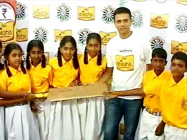 Video : Rahul Dravid Bats for Underprivileged Children in Bangalore