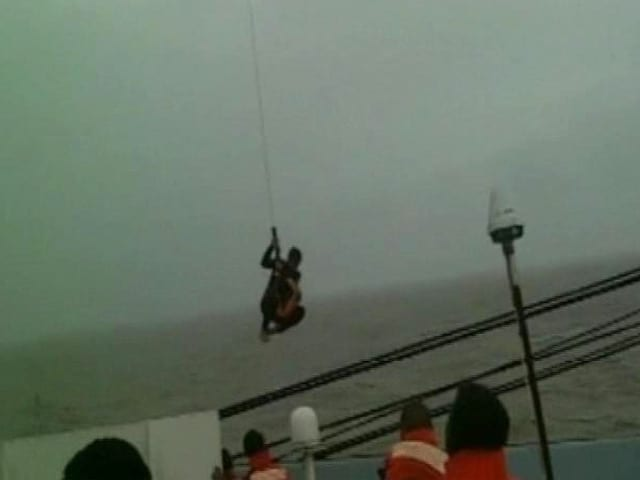 Video : Dramatic Navy Rescue After Distress Signals From Ship Off Mumbai