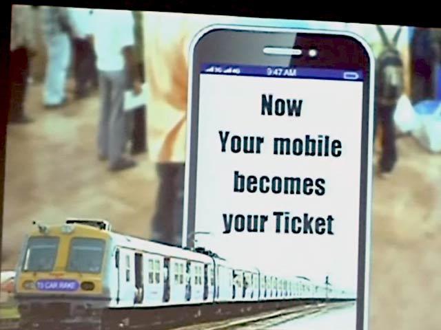 Video : मुंबई लोकल का टिकट भी अब मिलेगा मोबाइल पर
