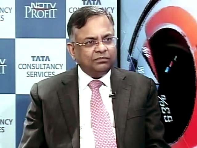 Video : TCS chief N Chandrasekaran Says Happy With Q1 Growth