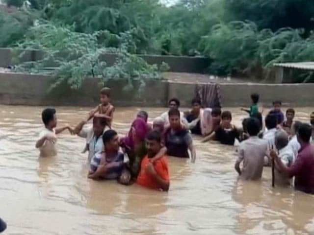 Video : Rescue Teams Roped in as Heavy Rains Lash Rajasthan