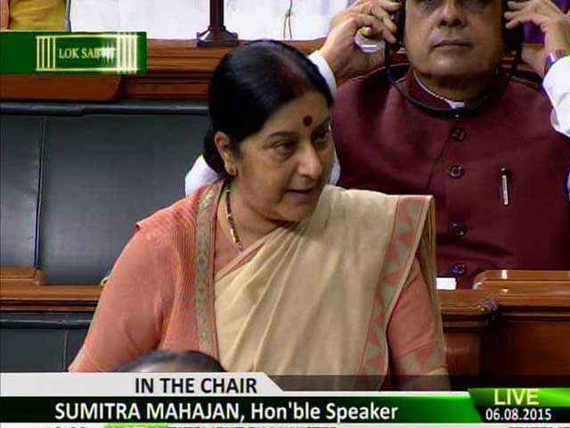 Video : 'What Would Sonia Gandhi Have Done?' Sushma Swaraj's Lalitgate Defense