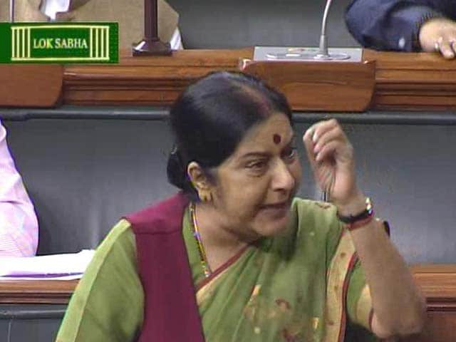 Video : Did No Wrong, Says Sushma Swaraj Amid Ceaseless Congress Chants
