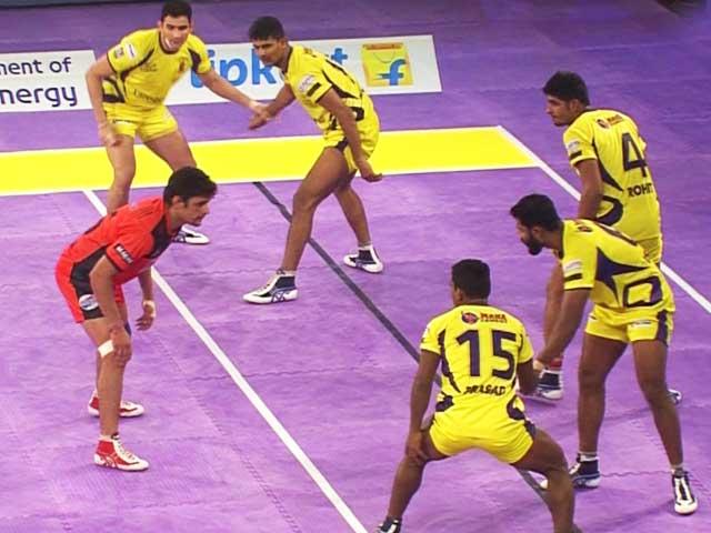 Video : Pro Kabaddi League: Telugu Titans Hand U Mumba Heavy Defeat