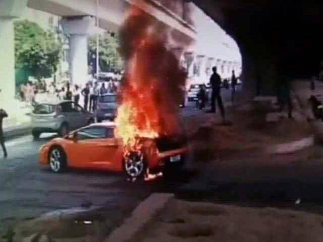 Video : Ouch. Rs 2.5 Crore Lamborghini Went Up in Smoke
