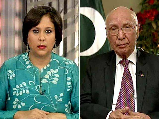 Video : If Hurriyat is India's Red Line, Kashmir is Ours: Sartaj Aziz