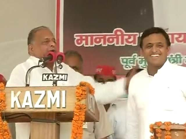 Video : Mulayam Asks Akhilesh and His Government to Stay Ahead of Deadlines