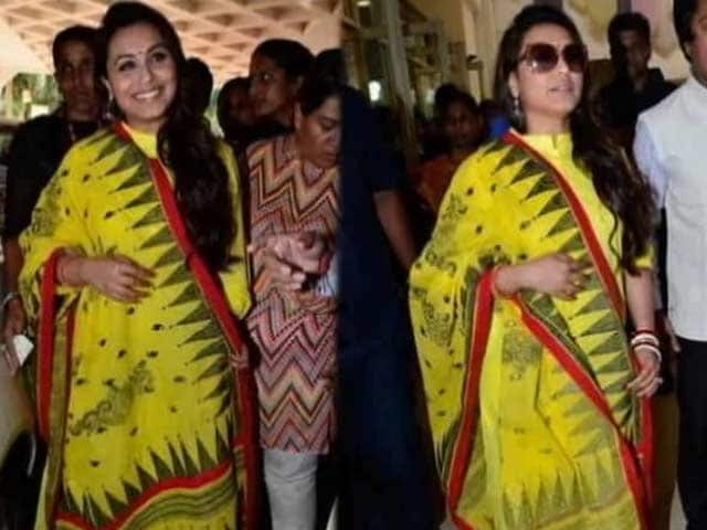Video : Rani Spotted With a Baby Bump