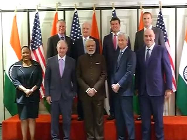 Video : PM Modi in US: Finance Sector Leaders Meet PM, Excited About India