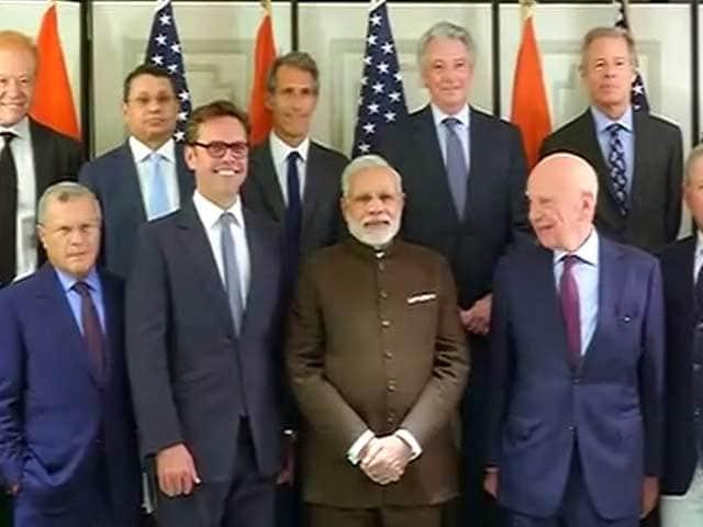 Video : PM Modi Meets Top Executives of Media Companies in New York