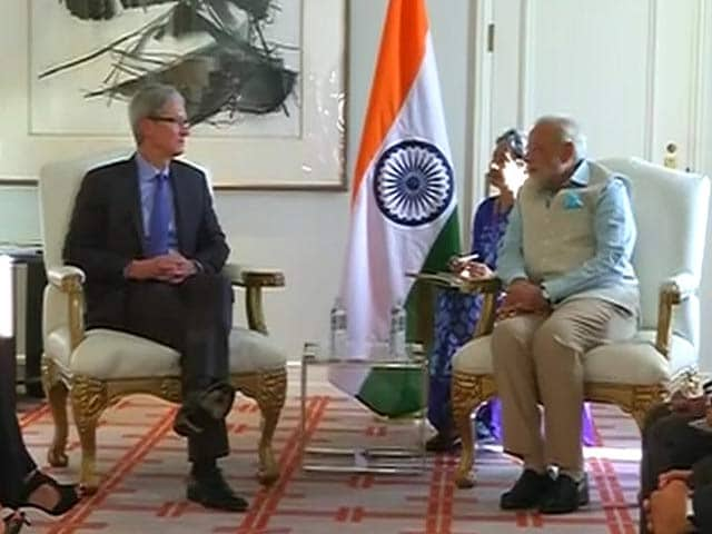 Video : In Silicon Valley, PM Modi Meets Apple CEO Tim Cook