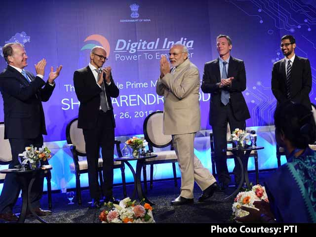 Video : Silicon Valley Giants Sold on PM Modi's Digital India Plan