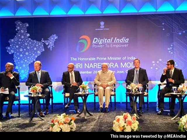 Video : Silicon Valley Giants Sold on PM Modi's 'Digital India' Plan