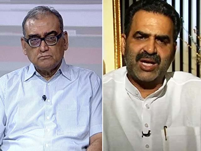 Video : 'Hang Netas,' Says Justice Markandey Katju; 'You're The Idiot,' Says BJP Minister