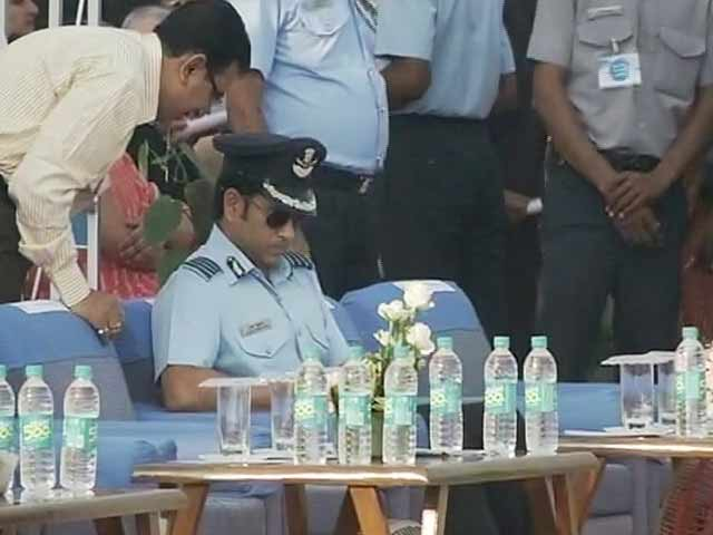 Video : Look, Who Was at the Air Force Day Celebrations, Group Captain Sachin Tendulkar