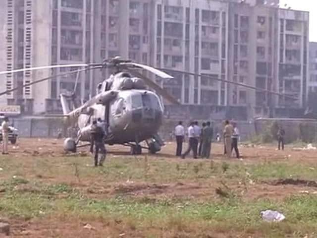 Video : Air Force Chopper Makes Emergency Landing In Mumbai's Bandra Kurla Complex