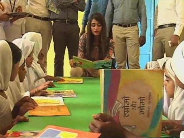 Video : Miss India Aditi Arya Visits School in Haryana