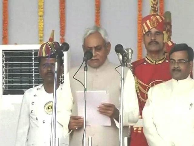 Video : Nitish Kumar Takes Oath as Bihar Chief Minister