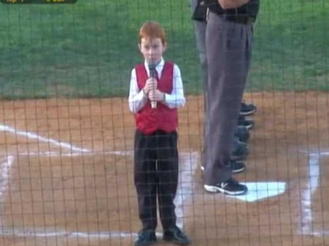 Video : Kid Gets Hiccups While Singing Australian Anthem