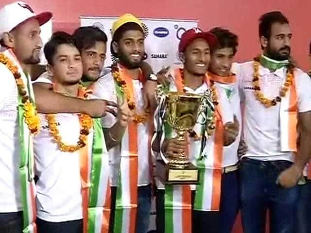 Video : Indian Junior Hockey Team Returns Home After Winning Asia Cup