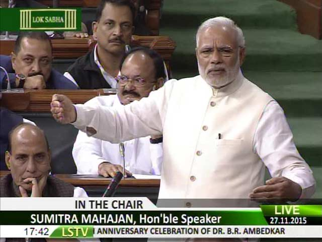 Video : Nov 26 Not Meant to Undermine Jan 26: PM Modi in Parliament