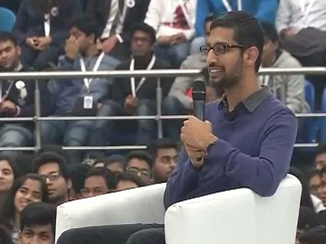 Video : 'In Silicon Valley If You Fail, It's Badge of Honour': Sundar Pichai