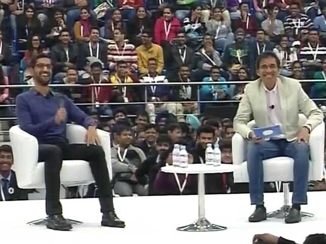Videos : देसी CEO सुंदर पिचाई से देसी सवाल, एंड्रॉयड OS का भारतीय नाम क्यों नहीं?