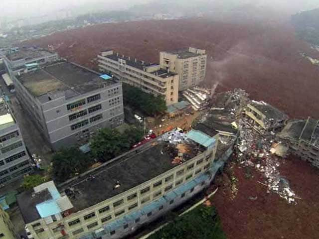 Video : China Landslide Leaves Over 90 Missing, Sparks Gas Explosion