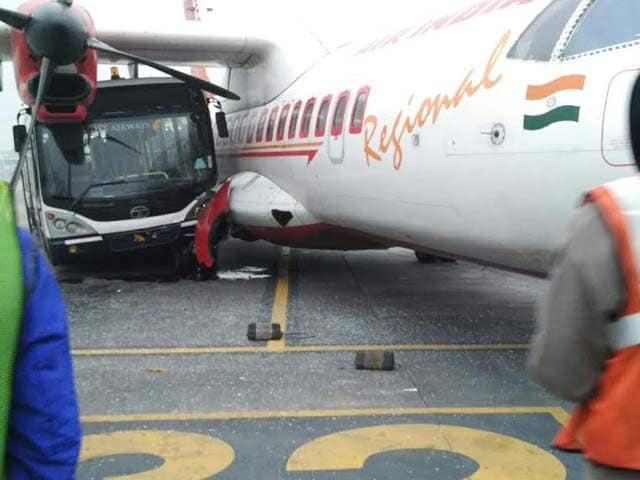 Video : Sleeping Jet Airways Bus Driver Rams Air India Plane in 'Rs. 400 Cr Crash'