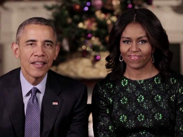 Video : Barack Obama, Michelle Send Festive Cheer To Americans