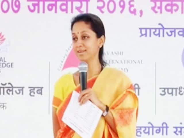 Video : We Talk Saris In Parliament: Supriya Sule's Joke May Crash