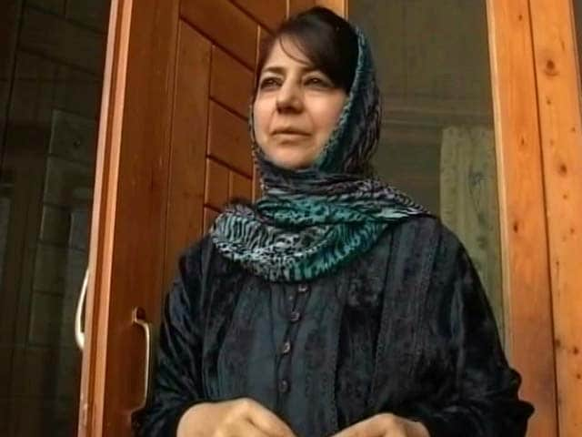 Video : Mehbooba Mufti In Mourning, Governor's Rule Likely In Jammu And Kashmir