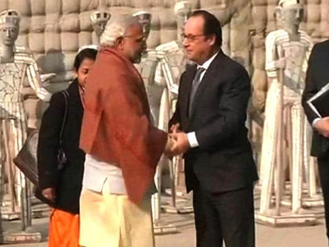 Video : President Hollande, PM Modi Meet At Chandigarh's Rock Garden