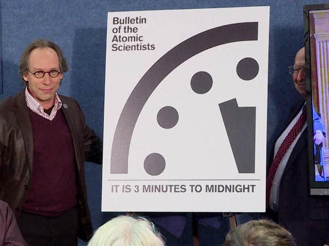 Video : 'Doomsday' Clock Remains at 3 Minutes to Midnight