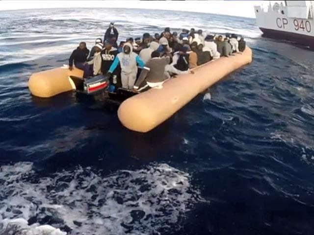 Video : 124 Migrants Rescued in the Mediterranean by Italian Coastguards