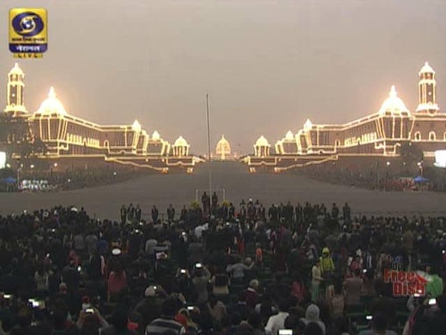 Video : Bands From Army Regiment And Battalion At The Beating Retreat