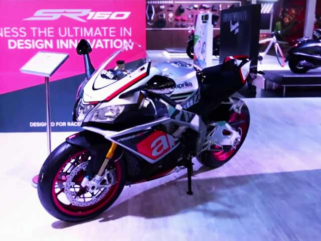 Piaggio Aprillia SR 150 Sports Scooter-Bike Unveiled at 13th Auto Expo