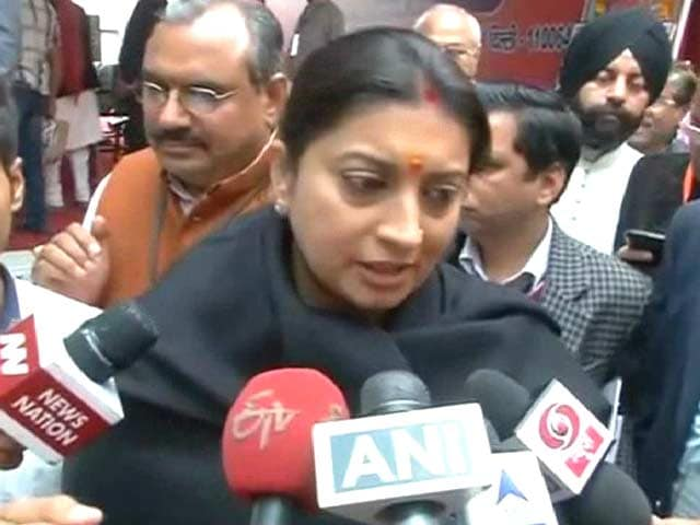 Video : Won't Tolerate Insult To Mother India, Says Smriti Irani On JNU Protest