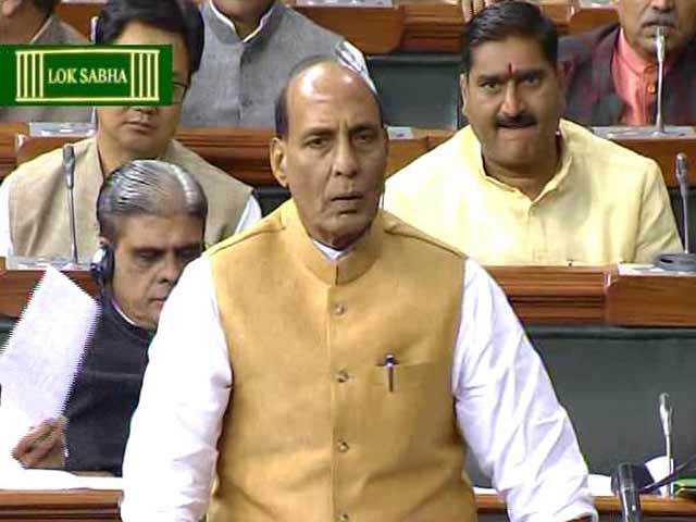 Video : 'There Should Be No Politics Over Terror,' Says Rajnath Singh In Parliament