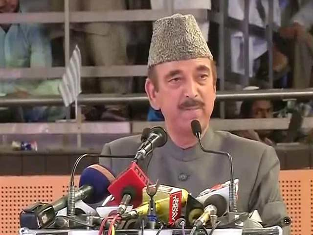 Video : Ghulam Nabi Azad Compares RSS With ISIS, BJP Seeks Apology