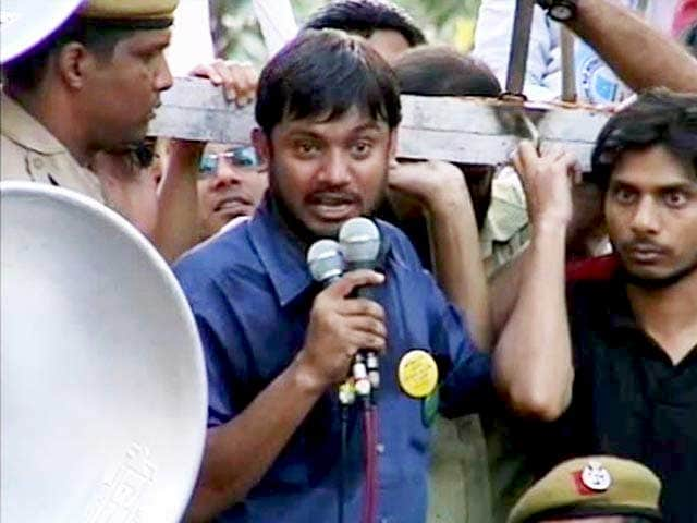 Video : Kanhaiya Kumar Leads Protest March Demanding Release Of 2 JNU Students