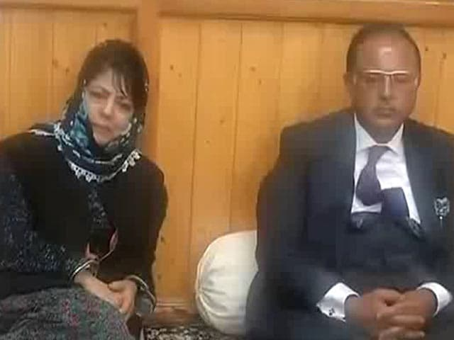 Video : Mehbooba Mufti To Meet Governor With BJP To Stake Claim To Form Government