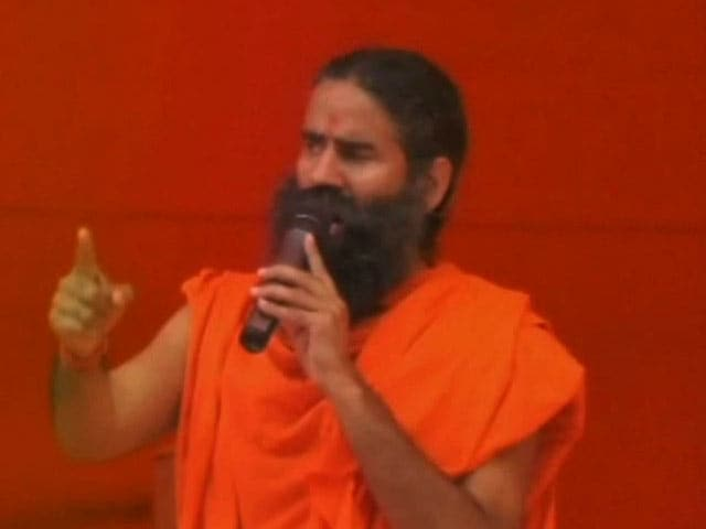 Video : Lobbying For 'Bharat Mata Ki Jai', Yoga Guru Ramdev Talks Of Beheading