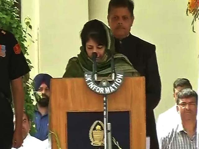 Video : Mehbooba Mufti Sworn In As First Woman Chief Minister Of Jammu and Kashmir