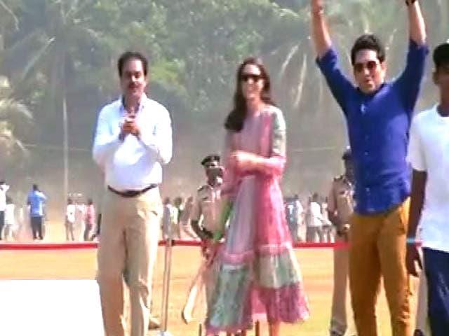 Video : मुंबई : जब सचिन तेंदुलकर के साथ केट मिडिलटन उतरीं क्रिकेट खेलने...