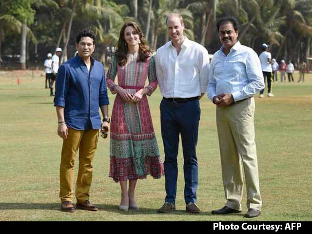 Video : Sachin Tendulkar Plays Cricket With Britain's Prince William and Kate