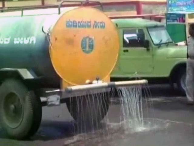 Video : Never Mind The Drought? Water Wasted For Karnataka Chief Minister's Drive