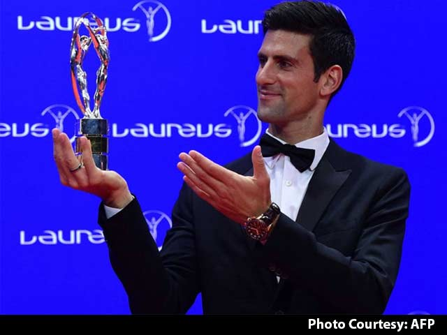 Video : Novak Djokovic Thanks His Support Staff At Laureus Sports Awards