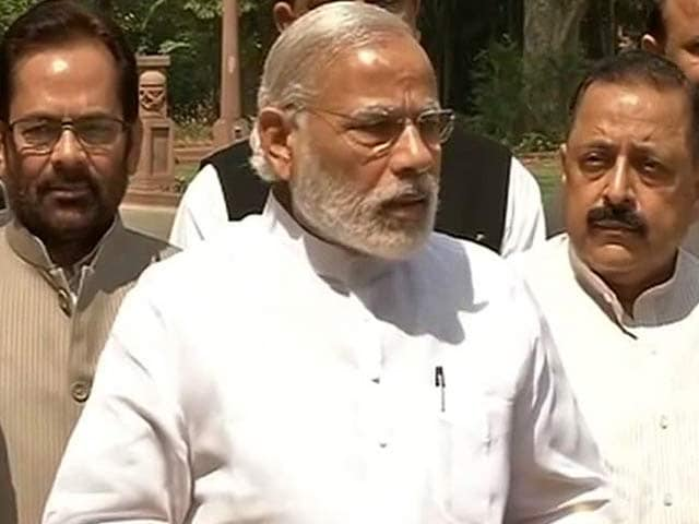 Video : 'Will Take Good Decisions,' Says PM Modi As Budget Session Resumes